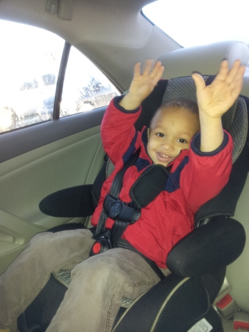 Gio Praising the Lord in the Car